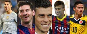 Lee más sobre el artículo Los 5 futbolistas mejores pagados de la liga española (2016)